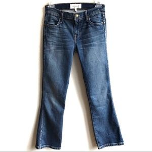 The GREAT. The Nerd Crop Ankle Flare Jeans Size 24